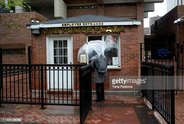 Outside of One Police Plaza before the trial of Officer Daniel Pantaleo on May 13 2019 in New York City Officer Pantaleo faces charges of using a...