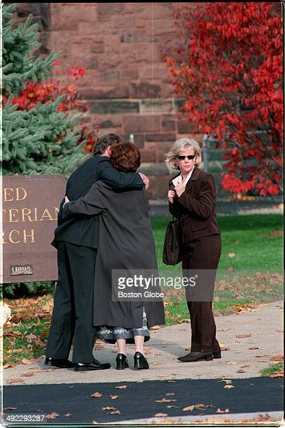 Outside of the Newton Presbyterian Church friends of Mabel May Greineder who was killed in a Wellesley park arrive for her memorial service on Nov 3...
