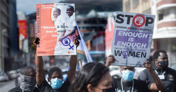 ZAF: Uyinene Mrwetyana family and friends march to Parliament in South Africa