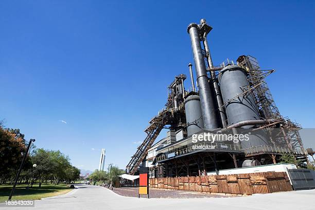 outside photo of the parque fundidora steel museum - monterrey stock pictures, royalty-free photos & images