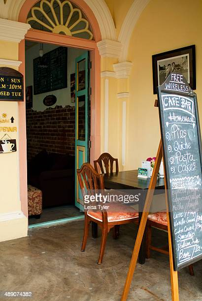 Outside Pirera Café in Phuket Old Town Thailand