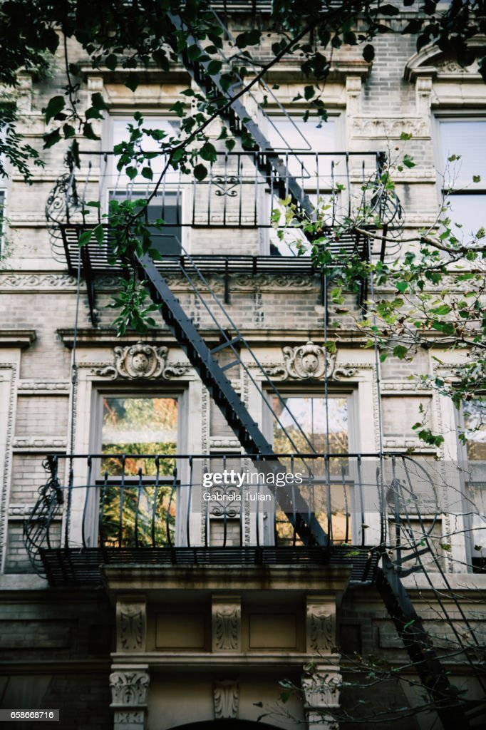 Outside Stairs On Building In Manhattan : Stock Photo