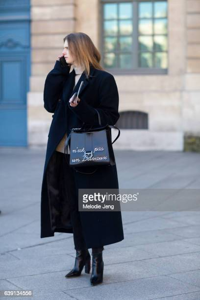 outside the Balenciaga show at Place Vendome on January 18 2017 in Paris France