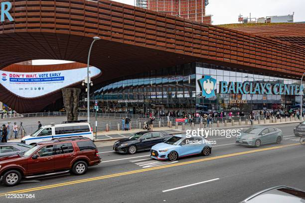 Outside the Barclays Center in Brooklyn, lines stretched for blocks when an early voting began in New York, thousands waited hoursto cast their vote...