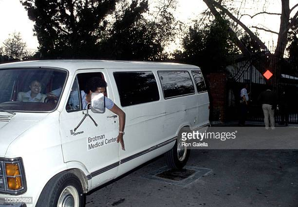 Outside The Gate of Michael Jackson's Estate during Outside Michael Jackson's Estate January 31 1984 in Encino California United States
