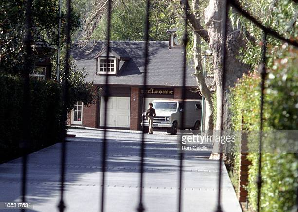 Outside The Gate of Michael Jackson's Estate during Outside Michael Jackson's Estate February 41984 in Encino California United States