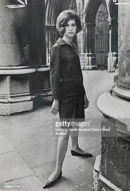 Outside the Law Couts in London Rita wears Emcar's Bermuda shorts suit With matching skirt