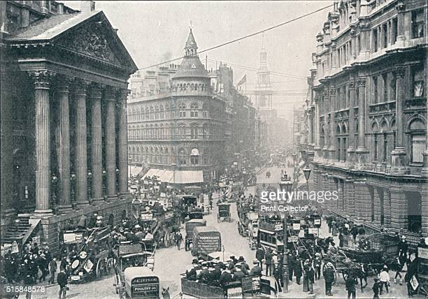 Outside the Mansion House City of London 9 AM circa 1901 Mansion House is the official residence of the Lord Mayor of London designed by George Dance...