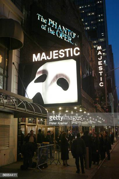 Outside the special gala for the 7486th performance of Phantom Of The Opera at the Majestic Theater in New York City on January 9 2006 Phantom is now...