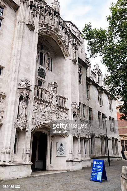 Outside the Supreme Court, London