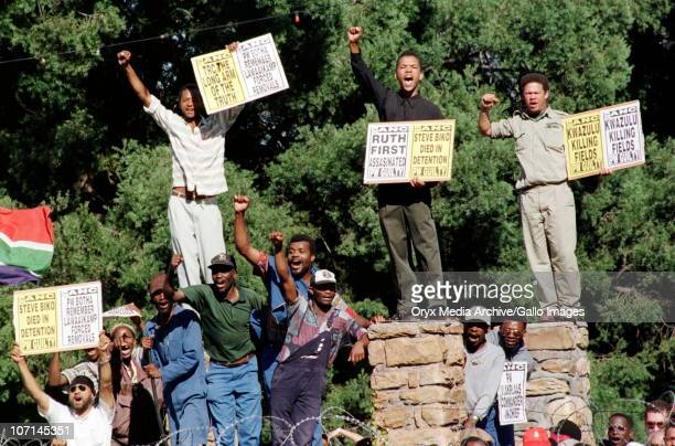 Outside the TRC hearing of former South African president PW Botha Botha was found responsible for gross human rights violations by the Commission...