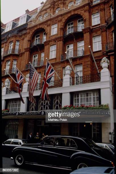 Outside view of Claridge Hotel in London