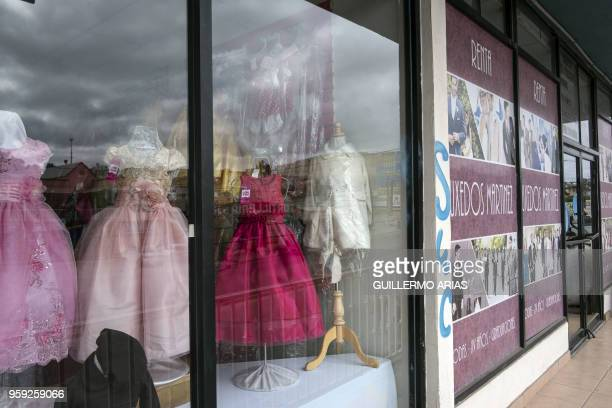 """Outside view of """"Martinez Tuxedos"""" where Thomas Markle, the father of Meghan Markle, admitted to set up staged photos with a paparazzi, in Rosarito,..."""