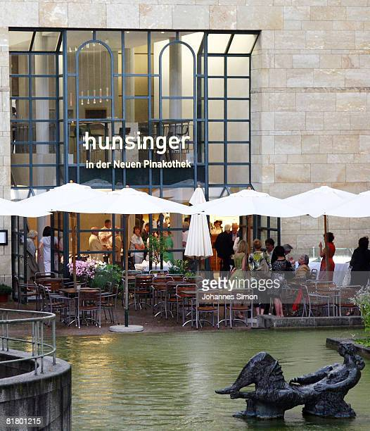 Outside view of Restaurant 'Hunsinger in der Neuen Pinakothek' seen during the restaurant opening on July 2 2008 in Munich Germany Restaurant owner...