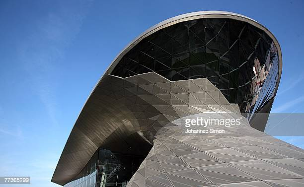 Outside view of the BMW World seen during the opening ceremony on October 17 2007 in Munich Germany BMW World is a representative architecturally...