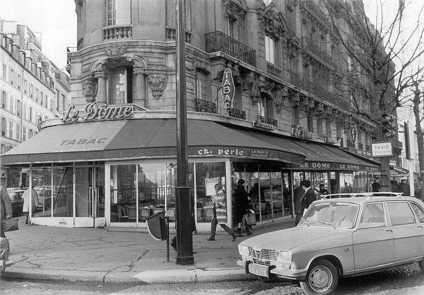 Outside View Of The Brasserie Le Dome In The Montparnasse District In Paris On January 30, 1968.