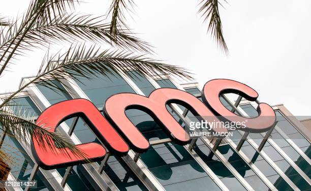 Outside view of the closed AMC Theater amid the coronavirus pandemic May 12 in Burbank California AMC stock has been down around 50% and the...