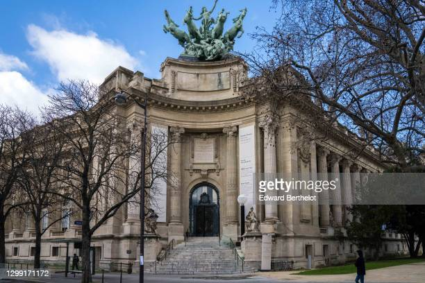 Outside view of the empty Grand Palais, during Paris Haute Couture Spring/Summer 2021 Collection, as part of Paris Fashion Week on January 25, 2021...