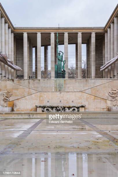 Outside view of the empty Palais de Tokyo, during Paris Haute Couture Spring/Summer 2021 Collection, as part of Paris Fashion Week on January 28,...