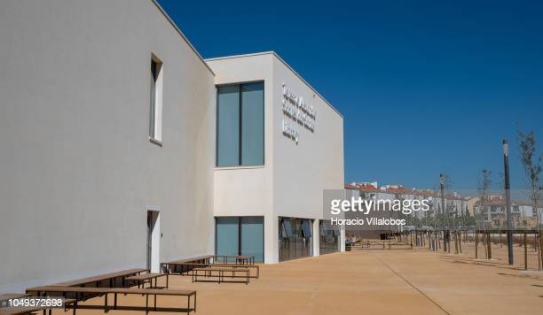 Outside view of the library at NOVA School of Business and Economics new campus on October 04 2018 in Carcavelos Portugal Nova SBE is a leading...