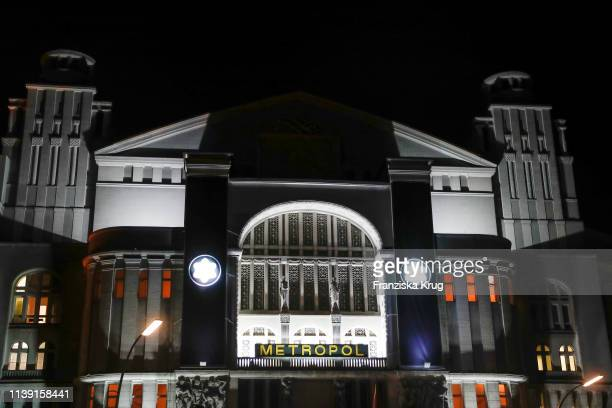"""Outside view of the Metropol Theater during the Montblanc launch event """"Reconnect To The World"""" at Metropol Theater on April 24, 2019 in Berlin,..."""