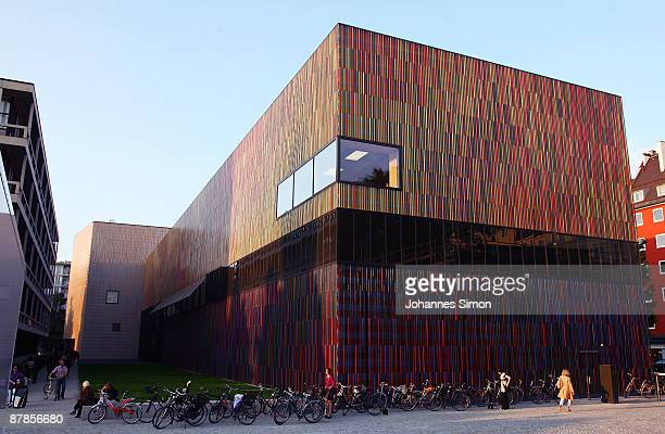 Outside view of the new built Brandhorst museum seen ahead of the opening party on May 19 2009 in Munich Germany The Brandhorst museum shows...