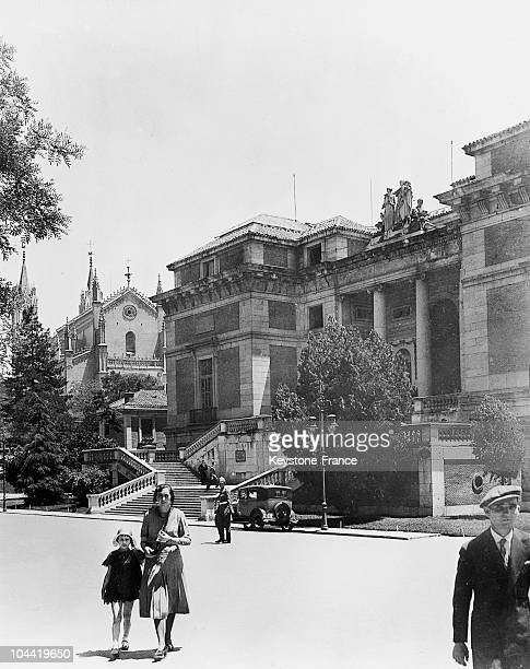 Outside View Of The Prado Museum In Madrid In 1934