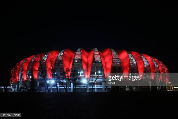Outside view of the stadium prior to a group E match of Copa CONMEBOL Libertadores 2020 between Internacional and Gremio at Beira-Rio Stadium on...