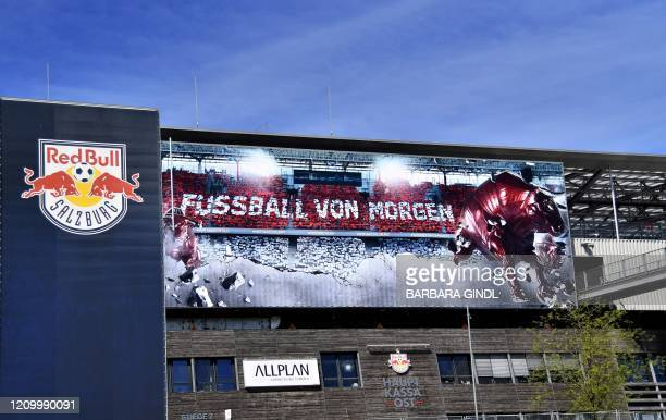 Outside view taken on April 15 2020 shows the Red Bull Arena in Salzburg Austria / Austria OUT