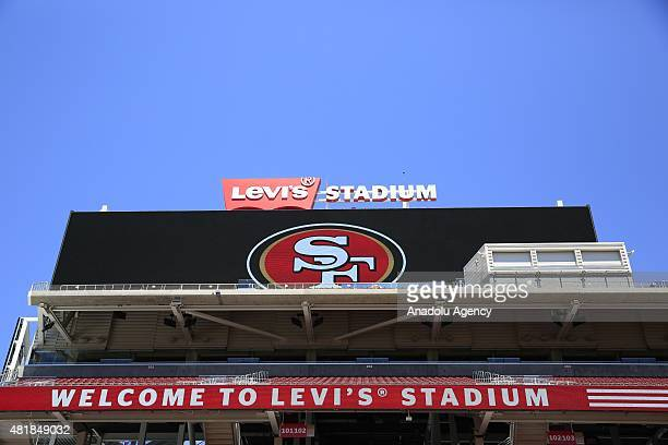 Outsite view of the Levi's Stadium as Barcelona and Manchester United train before today's 1300 match at the Levi's Stadium in the city of Santa...