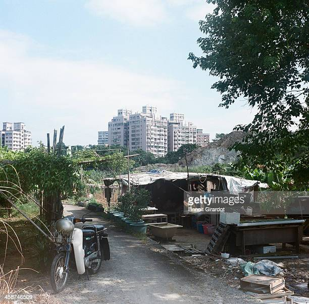 Outskirts of the greater Taipei-a city called Haishan. It looks like real-estate is developing very fast there. Buildings and fields are still...