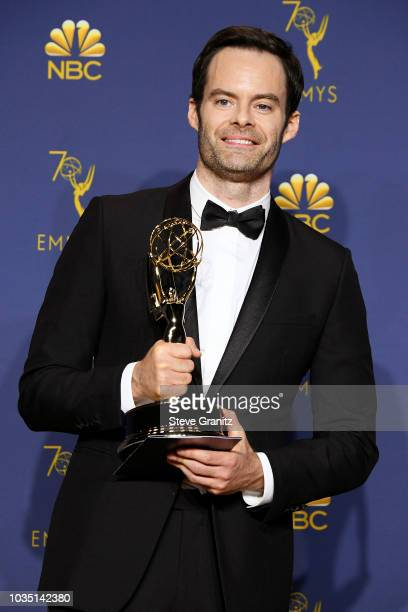 Outstanding Actor in a Comedy Series Bill Hader poses in the press room during the 70th Emmy Awards at Microsoft Theater on September 17 2018 in Los...