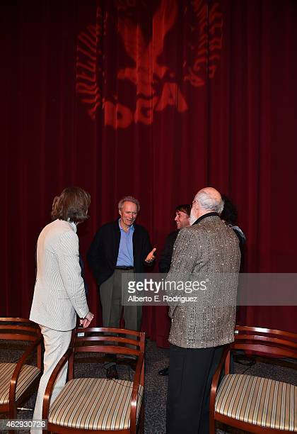 Outstanding Directorial Achievement in Feature Film nominees Wes Anderson Clint Eastwood and Richard Linklater speak amongst themselves after the...