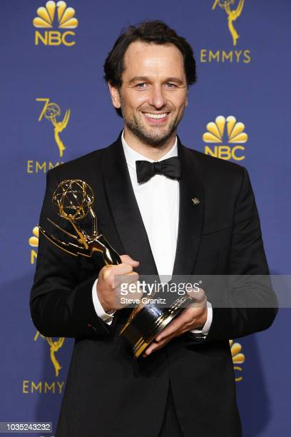 Outstanding Lead Actor in a Drama Series Matthew Rhys poses in the press room during the 70th Emmy Awards at Microsoft Theater on September 17 2018...
