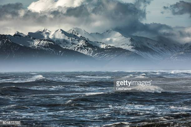 outstanding natural scenic view in iceland coastline - uncultivated stock pictures, royalty-free photos & images