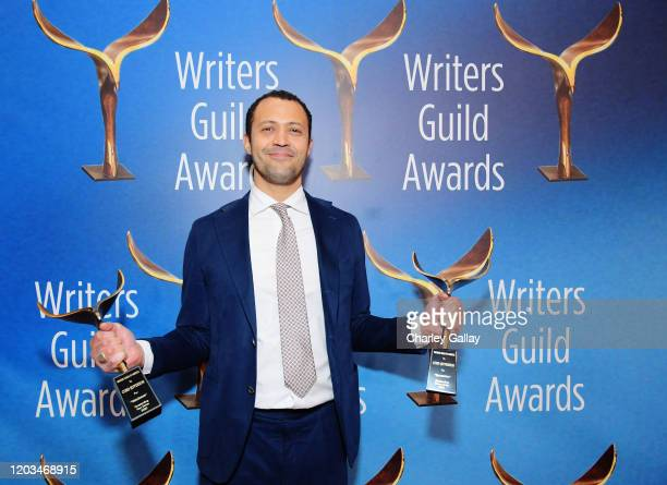 """Outstanding New Series"""" award for """"Watchmen"""" and """"Outstanding Drama Series"""" award for """"Succession"""" winner Screenwriter Cord Jefferson attends the..."""