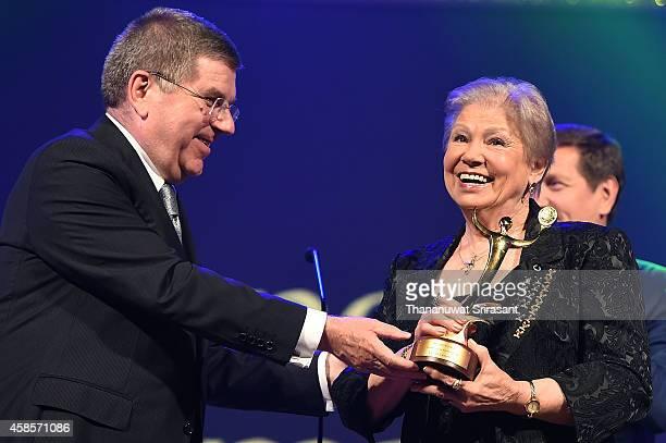 Outstanding Performance award Larisa Latynina accepts her award during 1st ANOC Gala awards at Bangkok ANOC 2014 at Bangkok ANOC 2014 on November 7...