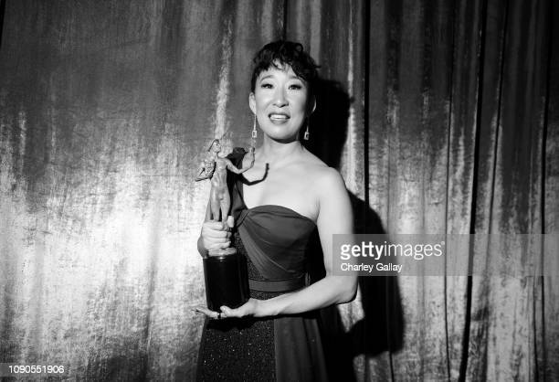 Outstanding Performance by a Female Actor in a Drama Series for 'Killing Eve' nominee Sandra Oh attends the 25th Annual Screen ActorsGuild Awards at...