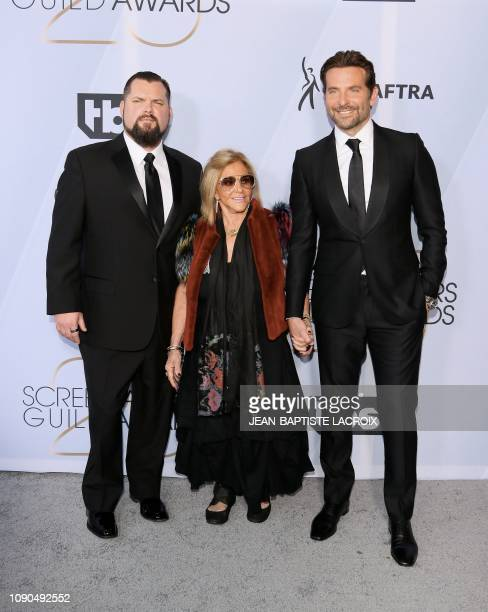 Outstanding Performance by a Male Actor in a Leading Role for A Star id Born nominee Bradley Cooper and mom Gloria Campano arrive for the 25th Annual...