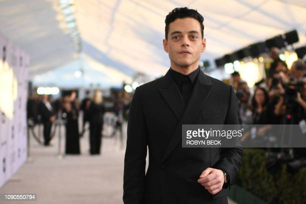 Outstanding Performance by a Male Actor in a Leading Role in Bohemian Rhapsody nominee Rami Malek walks the red carpet at the 25th Annual Screen...