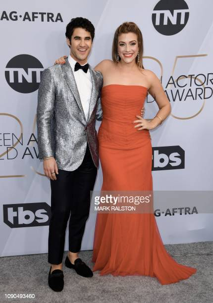 Outstanding Performance by a Male Actor in a Television Movie or Miniseries for Assassination of Gianni Versace nominee Darren Criss and fiance Mia...