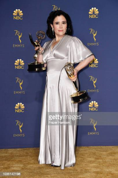 Outstanding Supporting Actress in a Comedy Series Alex Borstein poses in the press room during the 70th Emmy Awards at Microsoft Theater on September...