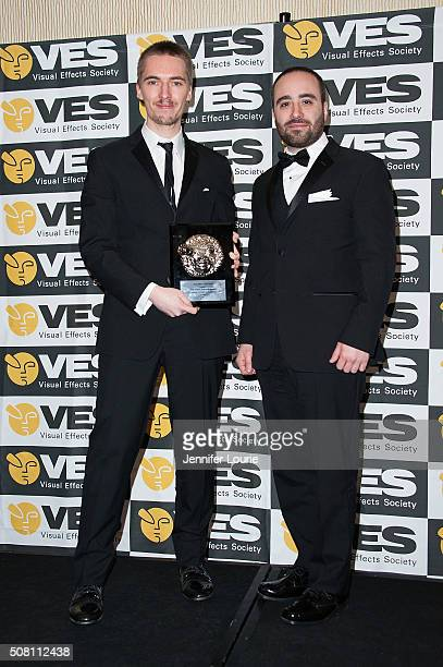 Outstanding Visual Effects in a Student Project award recipients Francesco Faranna and Andreas Feix attend the 14th Annual VES Awards at The Beverly...