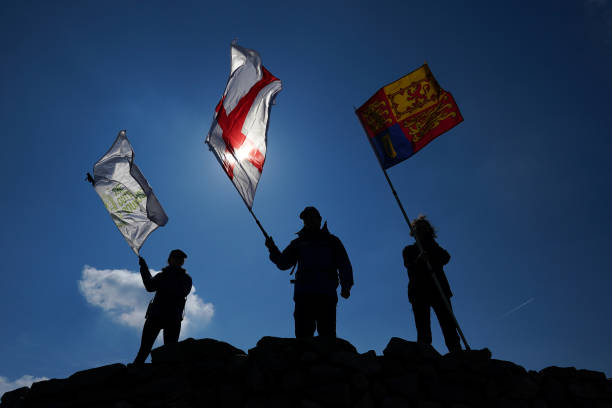 GBR: Outward Bound Charity Raise Royal Sovereign Flag In Honour Of HRH Duke Of Edinburgh's Involvement From The UK's Highest 3 Peaks