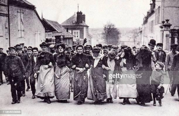 Ouvrier en grève de la tabletterie de Méru en juin 1909 France