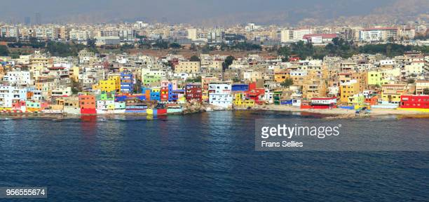 ouzville, formerly known as ouzai; a very colorful suburb of beirut, lebanon - beirut stock pictures, royalty-free photos & images