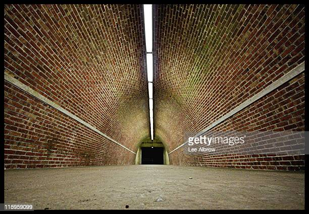 oval bricked tunnel - saltdean stock pictures, royalty-free photos & images