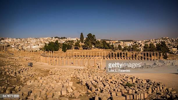 oval forum of gerasa - cité de l'architecture et du patrimoine photos et images de collection