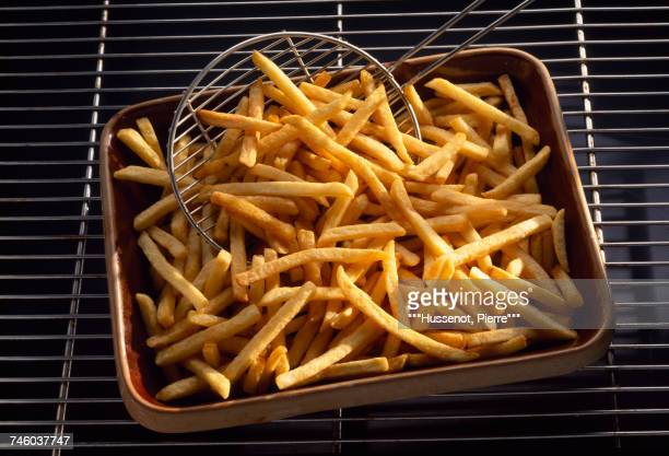 Oven cooked thin french fries