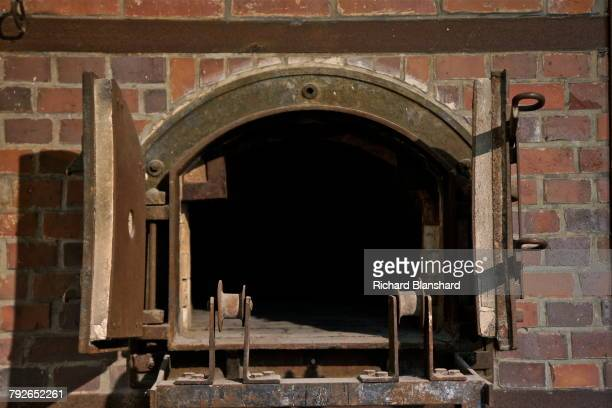 Ovens in the crematorium of 'Barrack X' at the site of the former Dachau Nazi concentration camp in Bavaria Germany 2014 Barrack X was completed in...